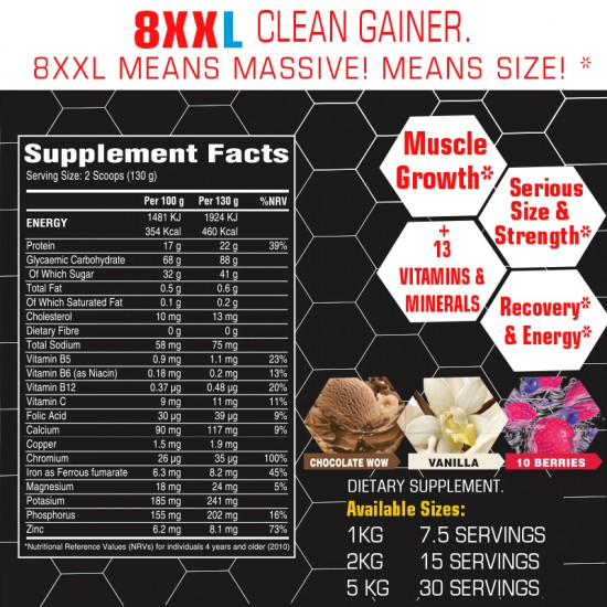 8XXL Clean Muscle Gainer