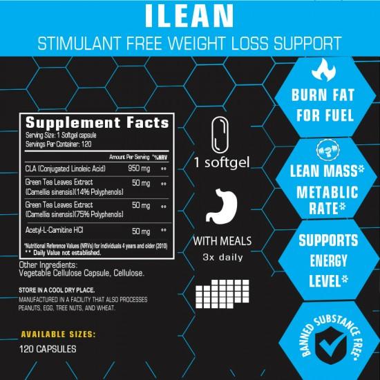 iLean Fat Burner Stimulant Free 120 caps