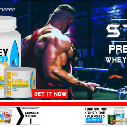 MUSCLE STACK 2: PRE W.O. MAX & WHEY ONE & OMEGA 3